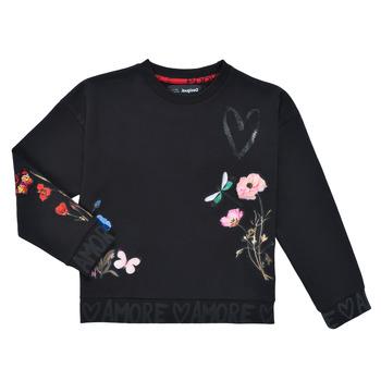 Vêtements Fille Sweats Desigual ALICIA Noir
