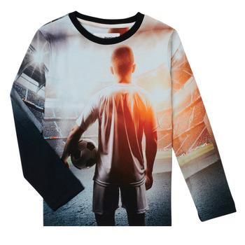 Vêtements Garçon T-shirts manches longues Desigual FOOTBALL Gris