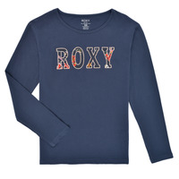 Vêtements Fille T-shirts manches longues Roxy THE ONE Marine