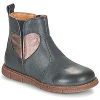 Chaussures Fille Boots Bisgaard MAGGIE Marine / Argenté