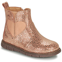 Chaussures Fille Boots Bisgaard MELODY Rose / Doré