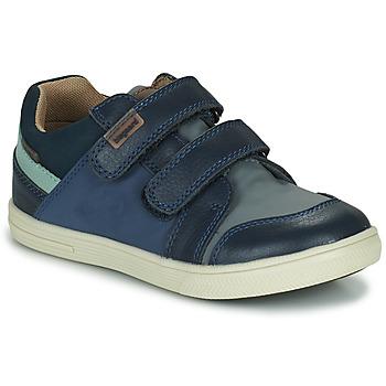 Chaussures Garçon Baskets basses Bisgaard LEVI TEX Marine