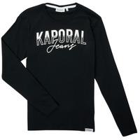 Vêtements Garçon T-shirts manches longues Kaporal JODLE Noir