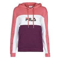 Vêtements Femme Sweats Fila AQILA HOODY Rose / Blanc / Violet