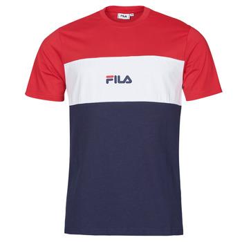 Vêtements Homme T-shirts manches courtes Fila ANOKI Rouge / Marine / Blanc
