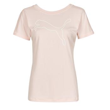Vêtements Femme T-shirts manches courtes Puma TRAIN FAVORITE JERSEY CAT TEE Rose