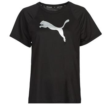 Vêtements Femme T-shirts manches courtes Puma EVOSTRIPE TEE Noir