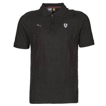Vêtements Homme Polos manches courtes Puma FERRARI STYLE JACQUARD POLO Noir