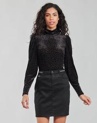Vêtements Femme T-shirts manches longues Morgan TISPI Noir