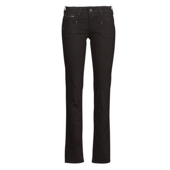 Vêtements Femme Jeans droit Freeman T.Porter ALEXA STRAIGHT S-SDM Noir