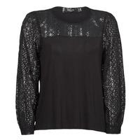 Vêtements Femme T-shirts manches longues Deeluxe FRIDA Noir