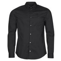 Vêtements Homme Chemises manches longues Emporio Armani 8N1C09 Noir