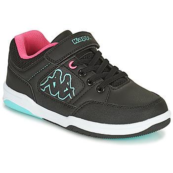 Chaussures Fille Baskets basses Kappa KASH LOW EV Noir / Bleu / Rose