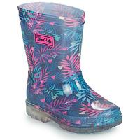 Chaussures Fille Bottes de pluie Be Only BINTOU Bleu / Rose
