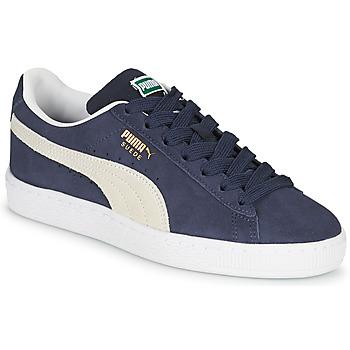 Chaussures Enfant Baskets basses Puma SUEDE JR Bleu / Blanc