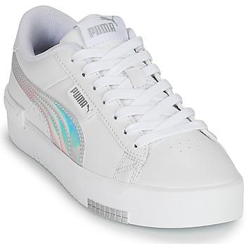 Chaussures Fille Baskets basses Puma JADA RAINBOW JR Blanc / Multicolore