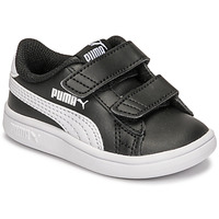Chaussures Enfant Baskets basses Puma SMASH INF Noir / Blanc