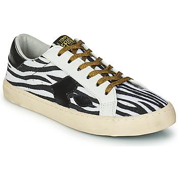 Chaussures Femme Baskets basses Le Temps des Cerises AUSTIN Blanc / Noir