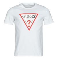 Vêtements Homme T-shirts manches courtes Guess CN SS ORIGINAL LOGO TEE Blanc