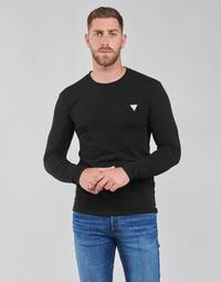 Vêtements Homme T-shirts manches longues Guess CN LS CORE TEE Noir