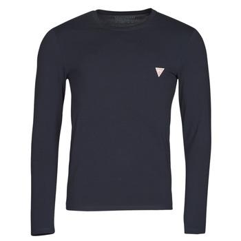 Vêtements Homme T-shirts manches longues Guess CN LS CORE TEE Marine