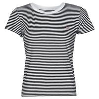 Vêtements Femme T-shirts manches courtes Guess ES SS GUESS LOGO BABY TEE Noir / Blanc
