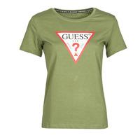 Vêtements Femme T-shirts manches courtes Guess SS CN ORIGINAL TEE Kaki