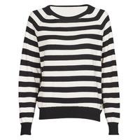 Vêtements Femme Pulls Guess IRENE RN LS SWTR Noir / Blanc