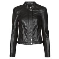 Vêtements Femme Vestes en cuir / synthétiques Guess FIAMMETTA JACKET Noir
