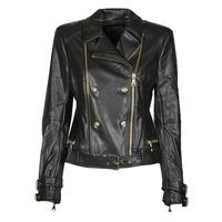 Vêtements Femme Vestes en cuir / synthétiques Guess OLIVIA MOTO JACKEY Noir