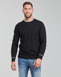 Vêtements Homme Pulls Guess KEVIN LS CN SLIM FIT SWTR Noir