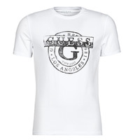Vêtements Homme T-shirts manches courtes Guess DOUBLE G CN SS TEE Blanc