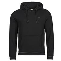 Vêtements Homme Sweats Guess CHRISTIAN HOODIE FLEECE Noir