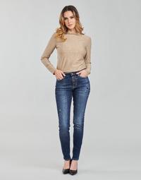 Vêtements Femme Jeans skinny Guess 1982 EXPOSED BUTTON Bleu fonce
