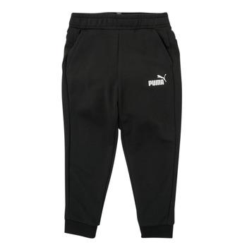 Vêtements Garçon Pantalons de survêtement Puma ESSENTIAL SLIM PANT Noir