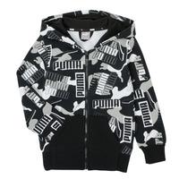 Vêtements Garçon Sweats Puma ALPHA AOP FZ Noir