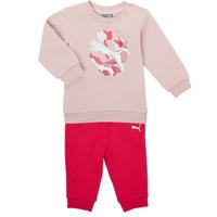 Vêtements Fille Ensembles enfant Puma Minicats ALPHA Crew Jogger FL Rose