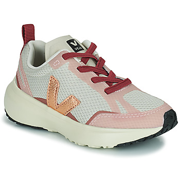 Chaussures Fille Baskets basses Veja SMALL CANARY Blanc / Rose