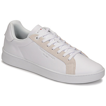 Chaussures Homme Baskets basses Tommy Hilfiger CUPSOLE COURT LEATHER Blanc