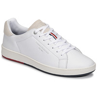 Chaussures Homme Baskets basses Tommy Hilfiger RETRO TENNIS CUPSOLE LEATHER Blanc
