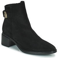 Chaussures Femme Boots Tommy Hilfiger HARDWARE TH MID HEEL BOOT Noir