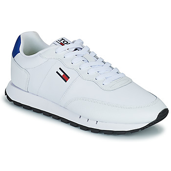Chaussures Homme Baskets basses Tommy Jeans RETRO LEATHER TJM RUNNER Blanc