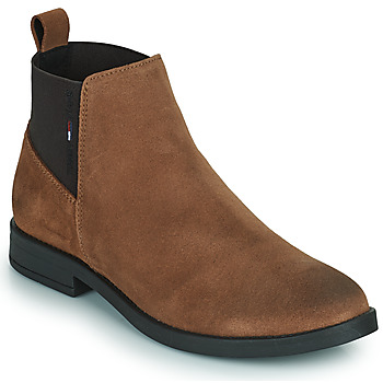 Chaussures Femme Boots Tommy Jeans ESSENTIALS CHELSEA BOOT Cognac