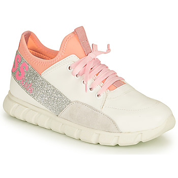 Chaussures Fille Baskets basses Guess SCARLETT Blanc / Rose