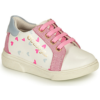 Chaussures Fille Baskets basses Guess MILA Blanc / Rose
