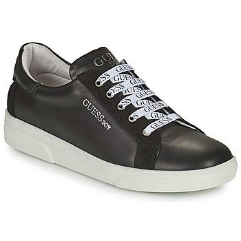 Chaussures Garçon Baskets basses Guess COLE Noir