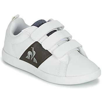 Chaussures Enfant Baskets basses Le Coq Sportif COURTCLASSIC PS Blanc / Marron