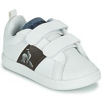 Chaussures Enfant Baskets basses Le Coq Sportif COURTCLASSIC INF Blanc / Marron