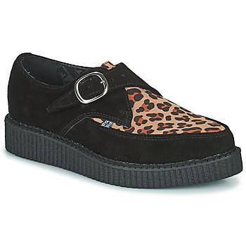 Chaussures Derbies TUK POINTED CREEPER MONK BUCKLE Noir / Leopard