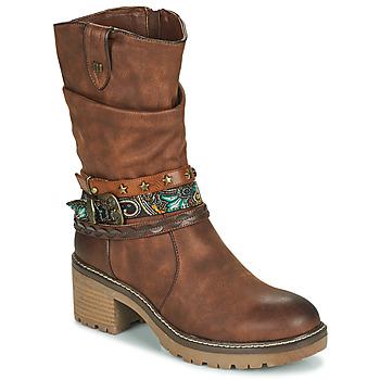 Chaussures Femme Bottines MTNG 50003-C52072 Cognac